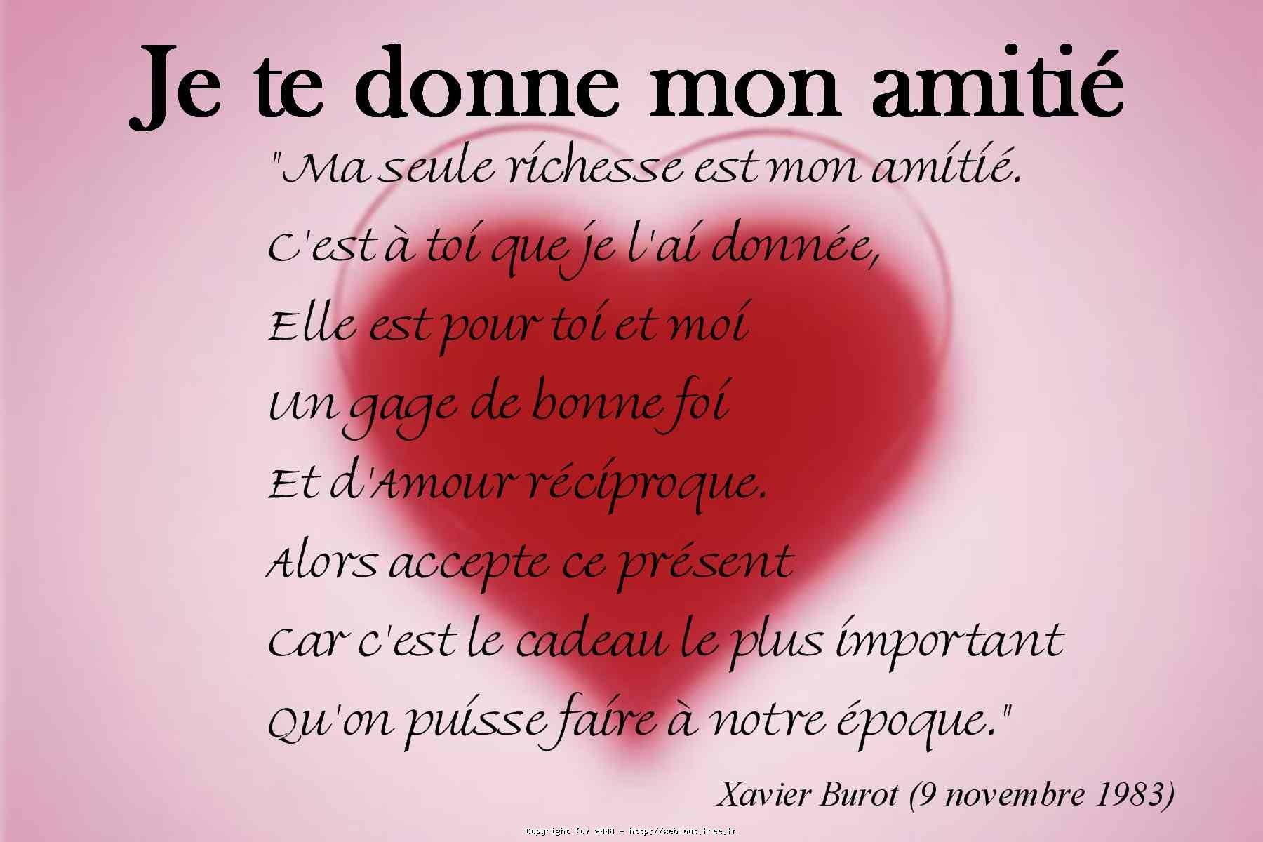 Je Te Donne Mon Amitié Le Site De Xeb